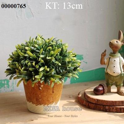 Chậu cây xanh decor trang trí tủ kệ bàn xinh xăn phong cách vintage Hàn Quốc