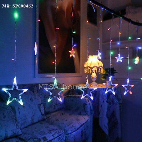 Đèn rèm sao nhiều màu trang trí nhà, quán cafe đẹp