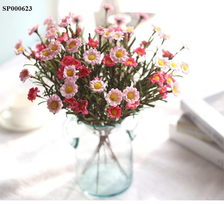 Hoa handmade đẹp giá rẻ trang trí decor nhà phòng ngủ quán cafe đạo cụ chụp ảnh màu đỏ trắng