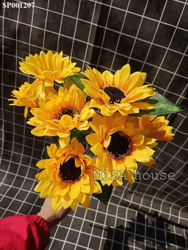 Cụm bó Hoa mặt trời vải bông lớn – hoa giả đẹp giá rẻ