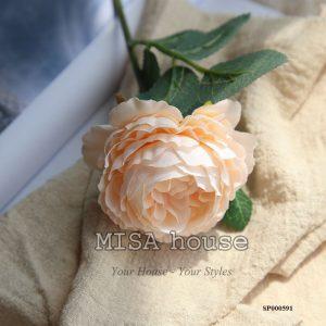 Hoa mẫu đơn màu cam đẹp - hoa giả đẹp cao cấp decor