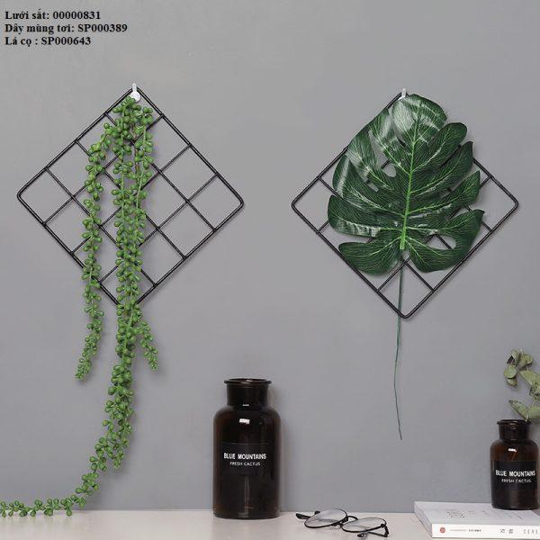 Lưới sắt treo tường trang trí nhà, quán cafe, cửa hàng đẹp độc đáo