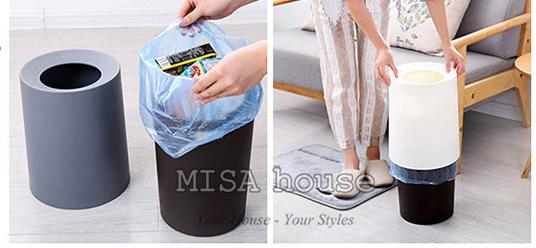 Sọt rác đơn giản nhưng vẫn rất dễ dàng sử dụng ở nhà, quán cafe, văn phòng công ty