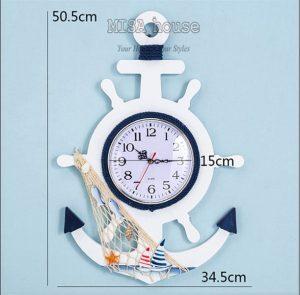 Kích thước chi tiết của đồng hồ mỏ neo biển size lớn 51cm