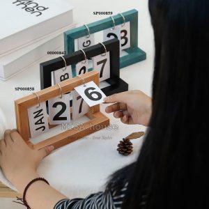Lịch gỗ giấy để bàn làm việc trang trí hiện đại - đồ trang trí để bàn decor tủ kệ phòng khách - phòng ngủ tiện lợi