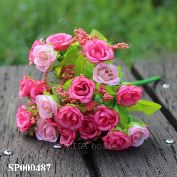Cụm Hoa hồng nhỏ màu hồng