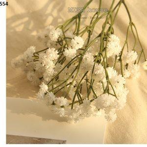 Hoa bi giống thật cao cấp màu trắng mẫu 02 decor trang trí đạo cụ chụp ảnh sản phẩm chụp concept nàng thơ