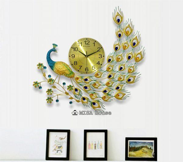 Đồng hồ treo tường trang trí hình công nghệ thuật đẹp – quà tặng tân gia ý nghĩa tốt lành cho nhà mới
