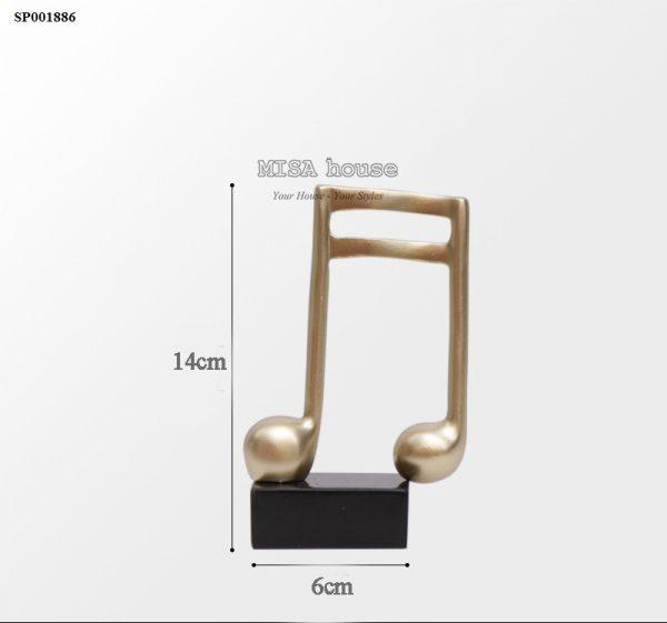 Mô hình nốt nhạc kép trang trí – Tượng trang trí để bàn tủ kệ phòng khách phòng ngủ – quà tặng tân gia – đồ decor đẹp