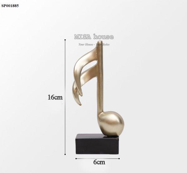 Mô hình nốt nhạc móc đôi trang trí – Tượng trang trí để bàn tủ kệ phòng khách phòng ngủ – quà tặng tân gia – đồ decor đẹp