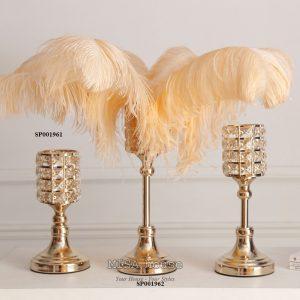Bộ 3 chân đế nến trang trí cao cấp phong cách sang trọng siêu đẹp trang trí nhà tủ kệ decor tiệc cưới liên hoan - quà tặng tân gia