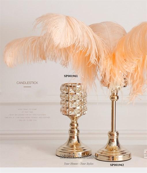 Bộ 3 chân đế nến trang trí cao cấp phong cách sang trọng siêu đẹp trang trí nhà tủ kệ decor tiệc cưới liên hoan – quà tặng tân gia