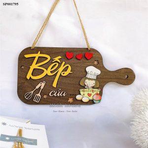Bảng gỗ treo cửa handmade trang trí nhà bếp - Bếp của- bảng gỗ treo tường phòng bếp decor trang trí bếp đẹp