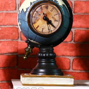 Đồng hồ để bàn trang trí mô hình quả địa cầu đẹp độc lạ màu xanh