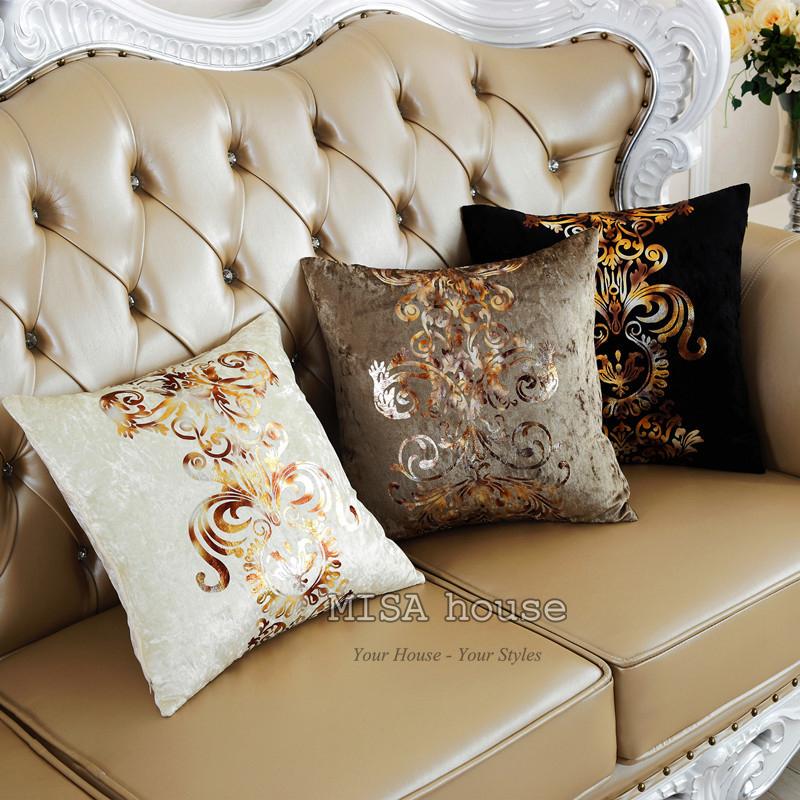Áo gối handmade - Vỏ gối tựa lưng sofa,văn phòng style độc đáo chất nhung sang trọng