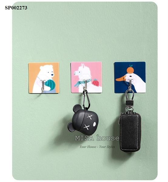móc dán treo đồ trang trí tường kiểu cute dễ thương phong cách Hàn Quốc