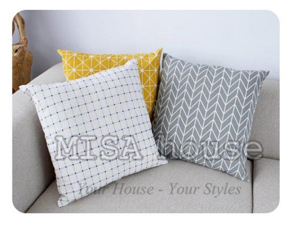 Vỏ gối tựa lưng, gối sofa trang trí vuông (size 45×45) mẫu trơn giá rẻ, uy tín, chất lượng nhất mẫu hiện đại đơn giản