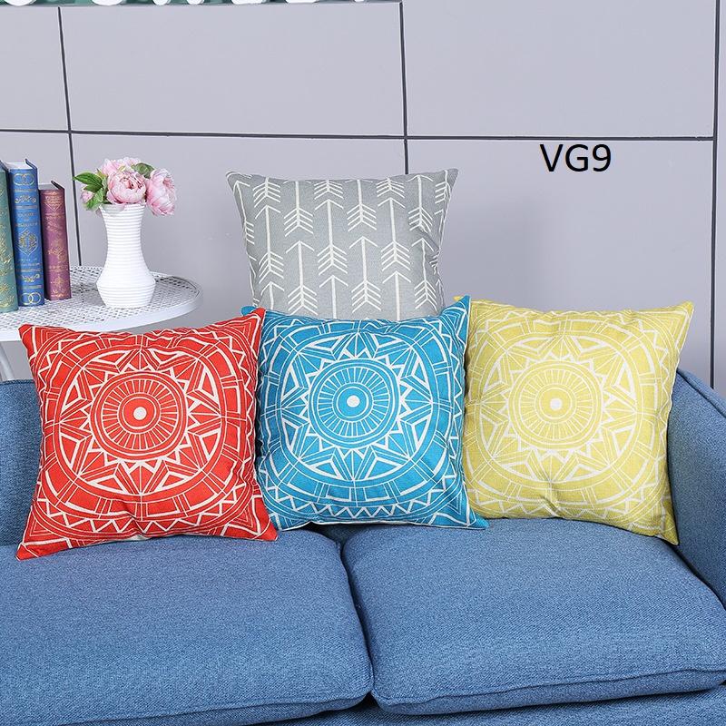 Vỏ gối tựa lưng, gối sofa trang trí vuông (size 45×45) mẫu trơn giá rẻ, uy tín, chất lượng nhất mẫu hình thổ cẩm