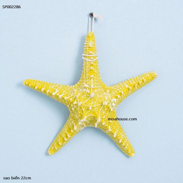 Sao biển decor đồ trang trí chủ đề biển phong cách địa trung hải màu vàng size lớn