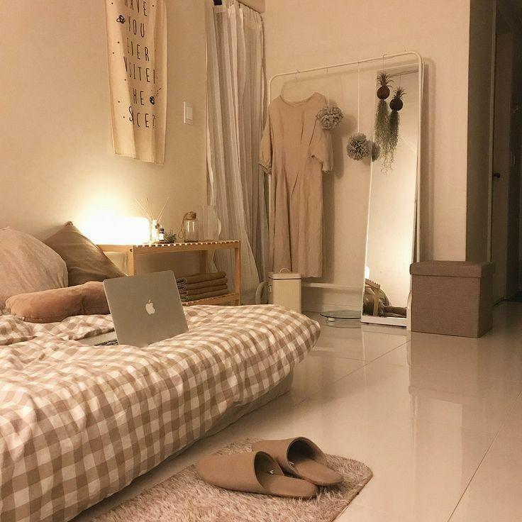 Cách trang trí phòng ngủ nhỏ cho nữ đơn giản đẹp kiểu phong cách hàn quốc.