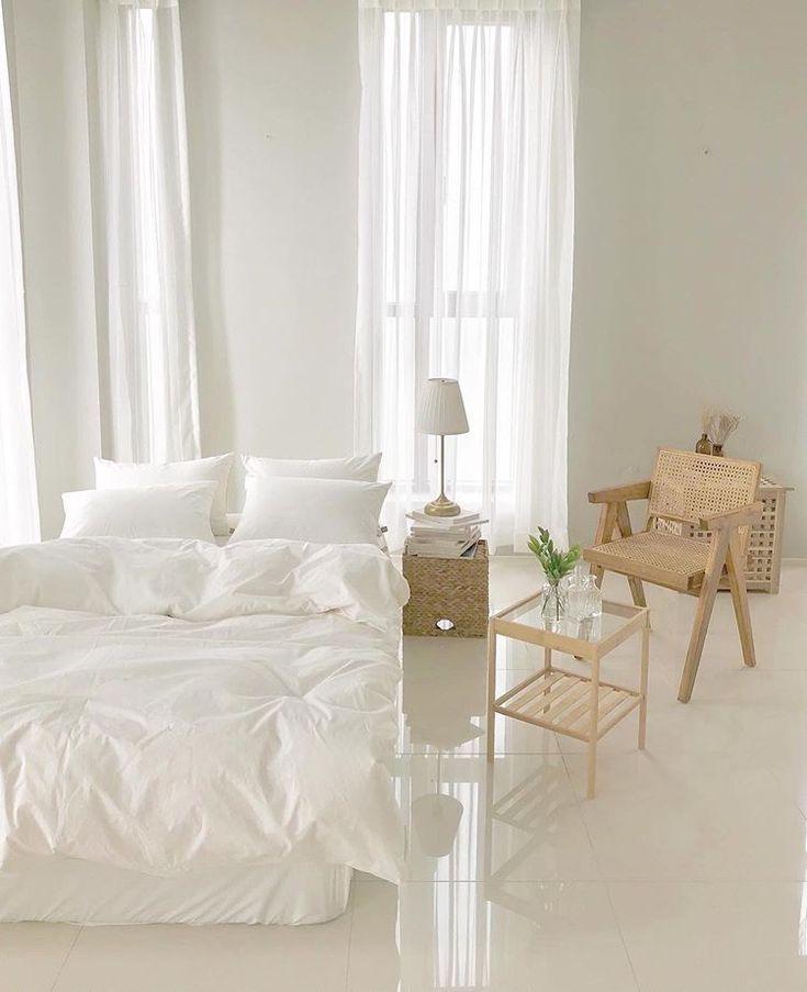 mẫu phòng ngủ màu trắng đơn giản