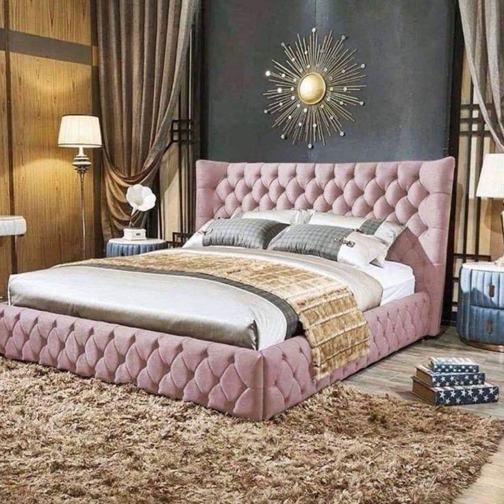 Những mẫu phòng ngủ màu trắng hồng tạo không gian ngủ thoải mái